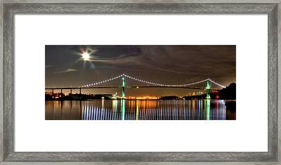 Lions Gate Bridge In Colour Framed Print by Naman Imagery