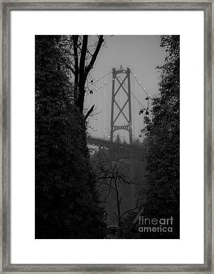 Lions Gate Bridge Framed Print by Nancy Harrison