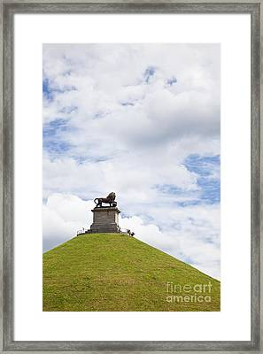 Lions Mound Memorial To The Battle Of Waterlooat Waterloo Belgium Europe Framed Print by Jon Boyes