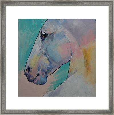 Lipizzan Stallion Framed Print by Michael Creese