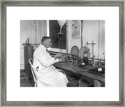 Lipoid Addiction Treatment Framed Print by Underwood Archives