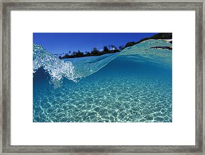 Liquid Energy Framed Print by Sean Davey