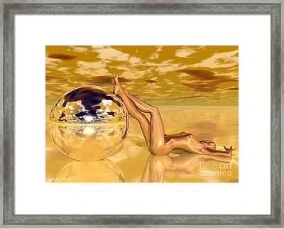 Liquid Gold Framed Print by Sandra Bauser Digital Art