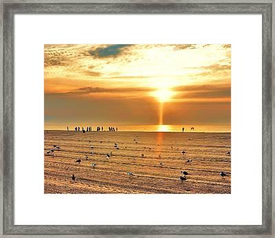 Liquid Gold Sunrise Framed Print by Kim Bemis