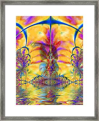 Liquid Lace Framed Print by Kurt Van Wagner