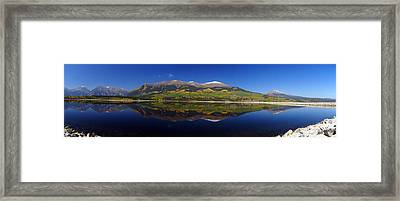 Liquid Mirror Panorama Framed Print by Jeremy Rhoades