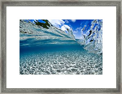 Liquid Motion Framed Print by Sean Davey