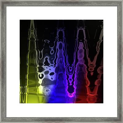 Liquid Framed Print by Stefan Kuhn