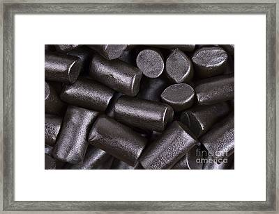 Liquorice Background Framed Print by Jane Rix