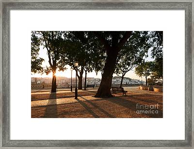 Lisbon Dawn Framed Print by Rod McLean