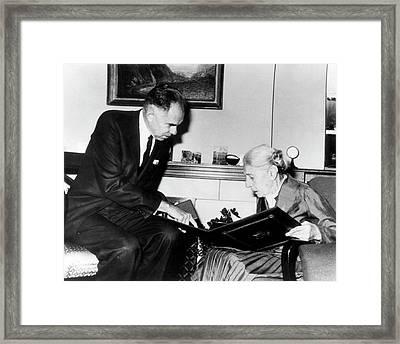 Lise Meitner And Glenn Seaborg Framed Print by Us Department Of Energy