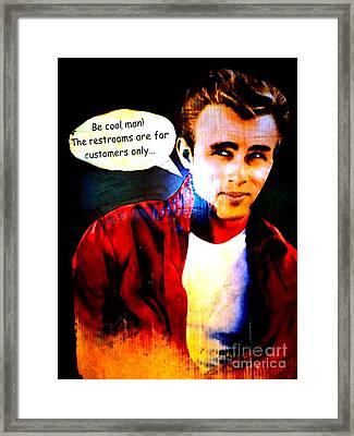 Listen To James Framed Print by Ed Weidman