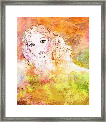 Listen To The Colour Of Your Dreams Framed Print by Barbara Orenya