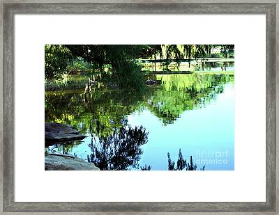 Listen To The Quiet Framed Print by Linda Cox