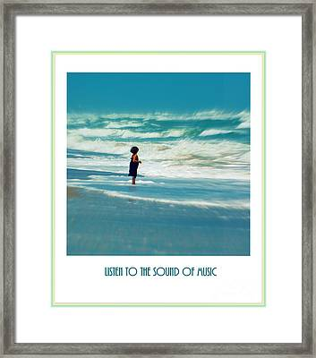 Listen To The Sound Of Music Framed Print by Susanne Van Hulst