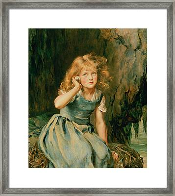 Listening To The Sea Framed Print by Mary Lemon Waller