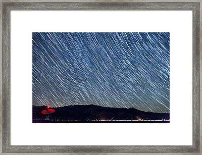 Listening To The Stars Framed Print by Cat Connor