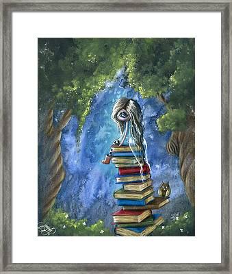 Literary Dream Framed Print by Sour Taffy