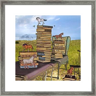 Literary Levels Framed Print by Betsy C Knapp