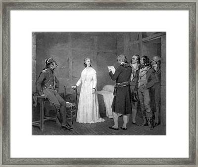 Lithograph Of Marie Antoinette Framed Print by Underwood Archives