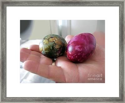 Lithuanian Easter Eggs Framed Print by Ausra Huntington nee Paulauskaite