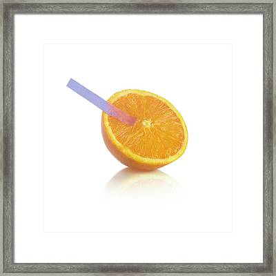 Litmus Paper Test On An Orange Framed Print by Science Photo Library