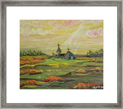 Little Abbey In The Meadow Framed Print by Tricia Concienne