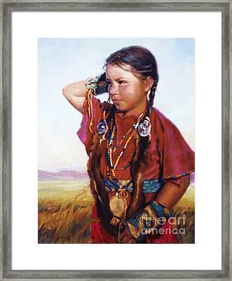 Little American Beauty II Framed Print by Jean Hildebrant