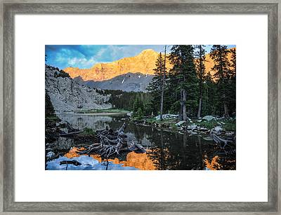 Little Bear Peak And Lake Como Framed Print by Aaron Spong