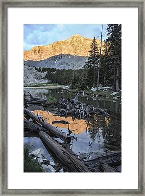 Little Bear Peak Reflection Framed Print by Aaron Spong