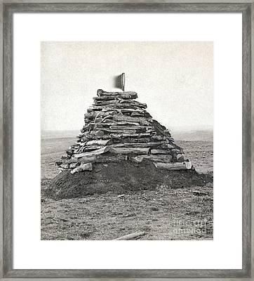 Little Bighorn Monument Framed Print by Granger