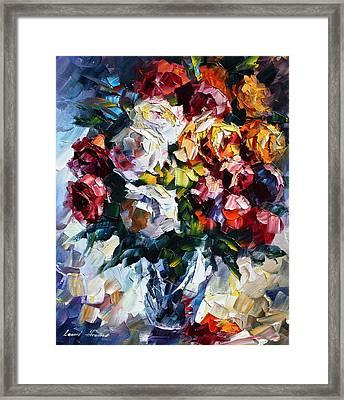 Little Bouquet Framed Print by Leonid Afremov