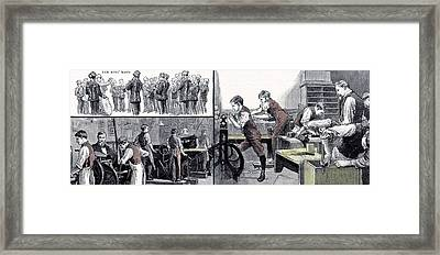 Little Boys Home At Farningham Britain 1891 Framed Print by English School