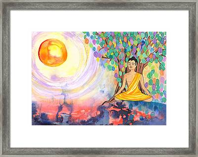 Little Buddha Framed Print by Cat Athena Louise