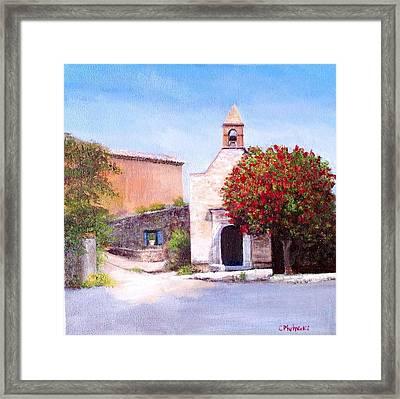 Little Chapel France Framed Print by Cindy Plutnicki