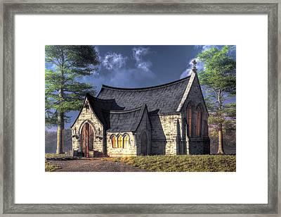 Little Church Framed Print by Christian Art