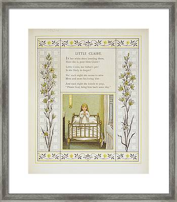 Little Claire Framed Print by British Library