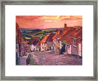 Little Country Village England Framed Print by David Lloyd Glover