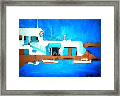 Paros  Cute Spot On Greek Island Framed Print by Colette V Hera  Guggenheim