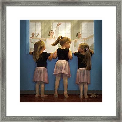 Little Dancing Dreamers Framed Print by Doug Kreuger