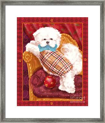 Little Dogs - Bichon Frise Framed Print by Shari Warren