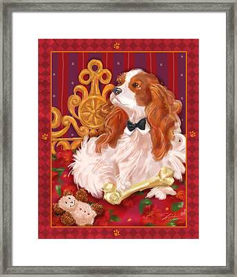 Little Dogs - Cavalier King Charles Spaniel Framed Print by Shari Warren