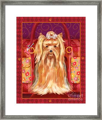 Little Dogs - Yorkshire Terrier Framed Print by Shari Warren
