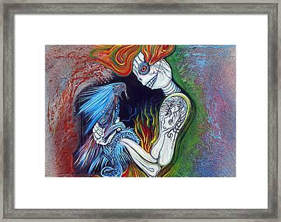 Little Dragon Framed Print by Laura Barbosa