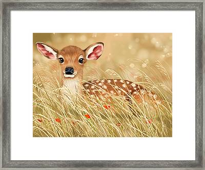 Little Fawn Framed Print by Veronica Minozzi
