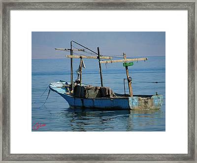 Little Fishingboat Nuweiba Beach Sinai Egypt Framed Print by Colette V Hera  Guggenheim