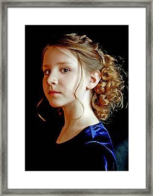 Little Girl Blue Framed Print by Jon Van Gilder