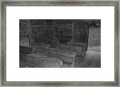 Little Greenbrier School In Black And White Framed Print by Dan Sproul