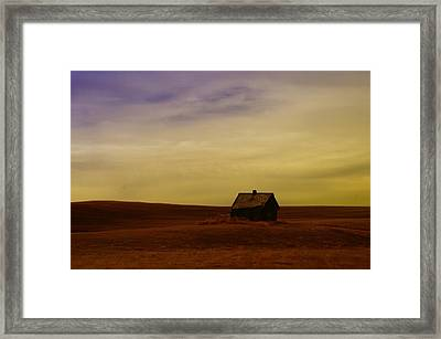 Little House On The Prairie  Framed Print by Jeff Swan