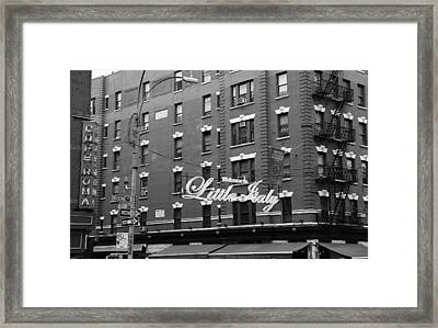 Little Italy New York 1b Framed Print by Andrew Fare